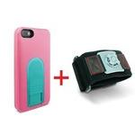 X-Guard iPhone5/5s用ケース(ピーチ)&スポーツアームバンド(L)セット (LG-MA03-0128とLG-XC02-0188L)  型番:LG-MA03-0128_LG-XC02-0188L_SET