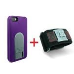 X-Guard iPhone5/5s用ケース(パープル)&スポーツアームバンド(S)セット (LG-MA03-0238とLG-XC02-0188S)  型番:LG-MA03-0238_LG-XC02-0188S_SET