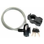 LKW13701 ワイヤー錠 WD-854 750mm クリアー  型番:LKW13701