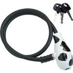 LKW16300 ユニーク ワイヤー ロック UP8-60 (カギ3ケ付属) ブラック カウ  型番:LKW16300