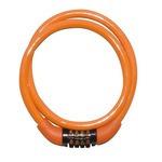 【JC-029W/o】JC-029W ダイヤル式 ワイヤーロック 8mm×600mm オレンジ  型番:SZ-28002909
